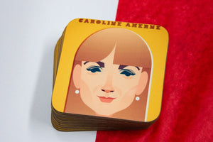 Caroline Aherne Coaster - Great Northerners by Stanley Chow