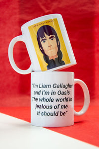 Liam Gallagher Mug - Great Northerners by Stanley Chow