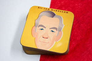 Sir Ian McKellen Coaster Designed by Stanley Chow