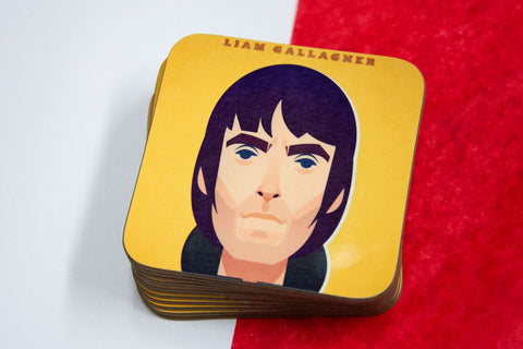 Liam Gallagher Coaster - Great Northerners by Stanley Chow