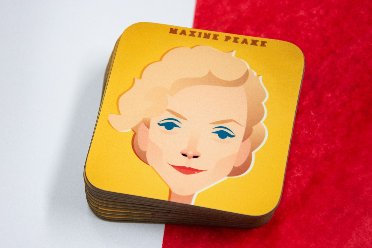 Maxine Peake Coaster Designed by Stanley Chow