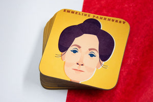 Emmeline Pankhurst Coaster - Great Northerners by Stanley Chow