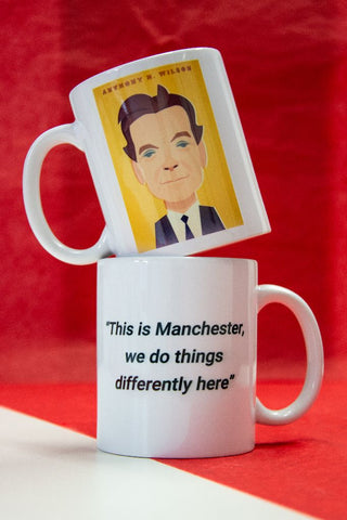Anthony H Wilson Mug Designed by Stanley Chow