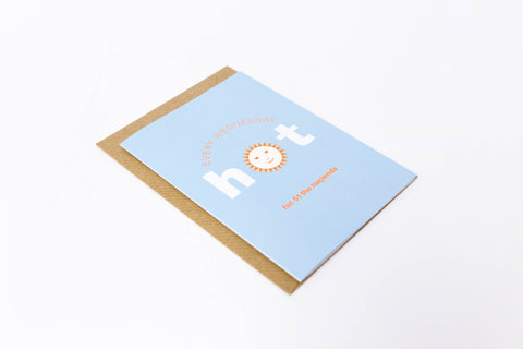 Hot A6 Greetings Card