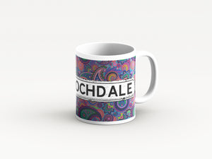 Purple Paisley design district mugs by Tinned Snail