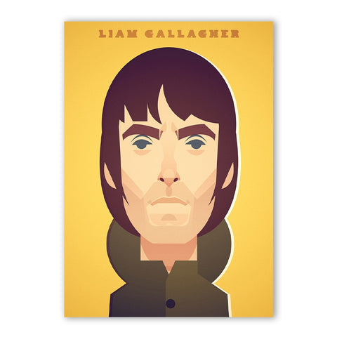 Liam Gallagher Print - Great Northerners by Stanley Chow