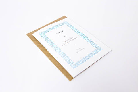 Wide A6 Greetings Card