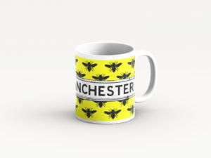 Yellow Bee design  mug by Tinned Snail