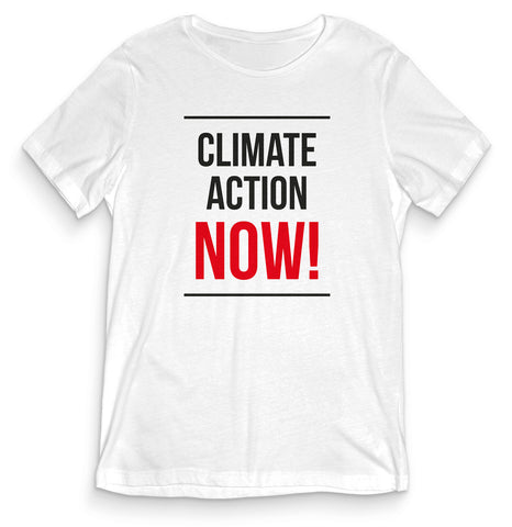 TeesBlitz Collection T-Shirt maglia Climate Action - Think Green GREEN003
