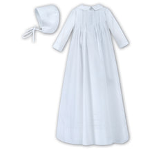 Sarah Louise LS Christening Gown. Tucks/hat