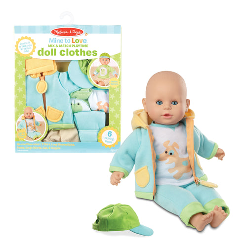 M&D Mine to Love Mix & Match Playtime Doll Clothes