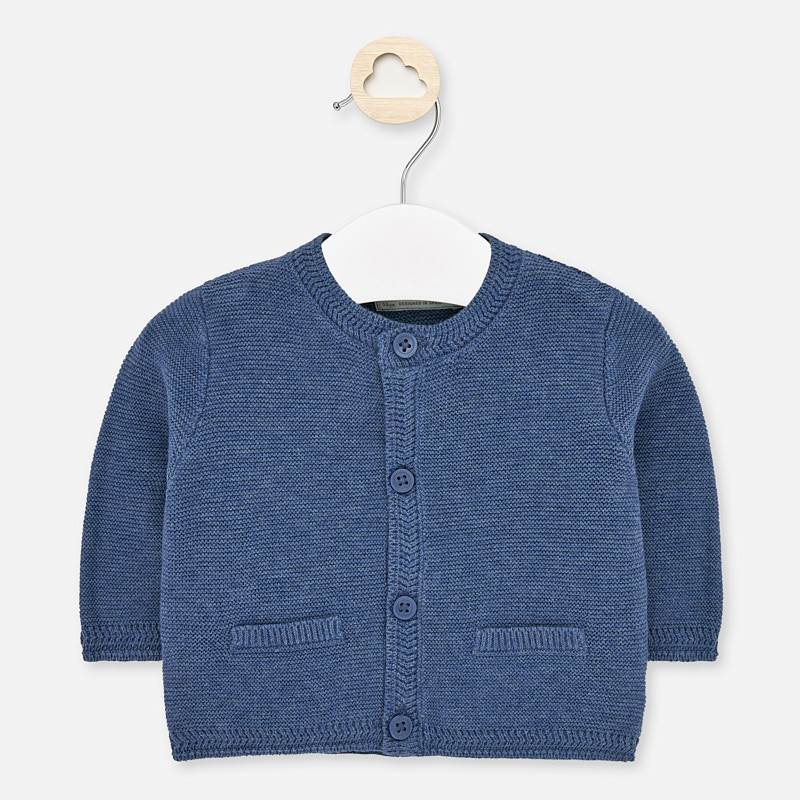 Mayoral Heathered Blue Cardigan with Pockets