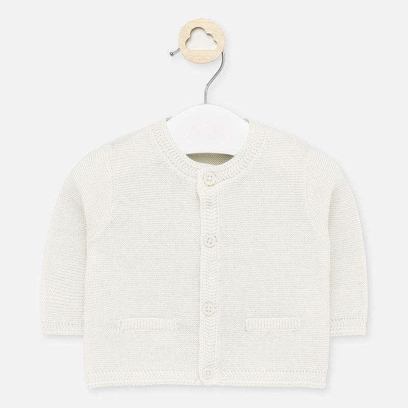 Mayoral Ivory Cardigan with Pockets