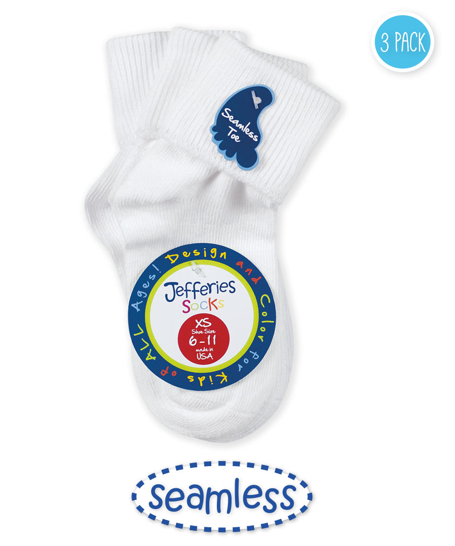 Jeffries White Seamless Toe Socks