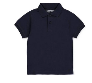 Universal Solid Polo Shirt Navy