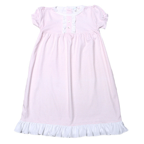 Baby Bliss Olivia Pink Gingham Gown