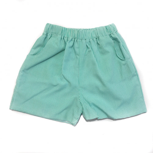 Banbury Elastic Short Mint Gingham