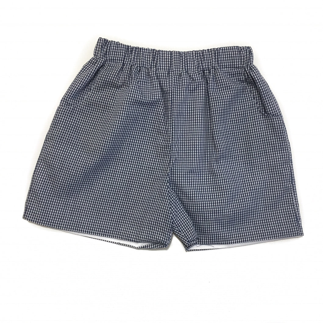Banbury Elastic Short Navy Gingham