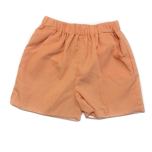 Banbury Elastic Short Orange Gingham