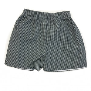 Banbury Elastic Short Black Gingham