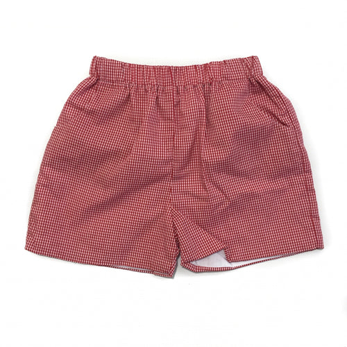 Banbury Elastic Short Red Gingham