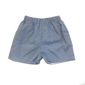 Banbury Elastic Short Medium Blue Gingham