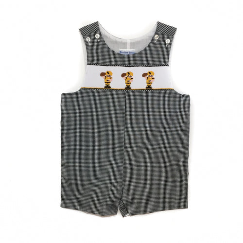 Banbury Black Gingham Football Player Shortall