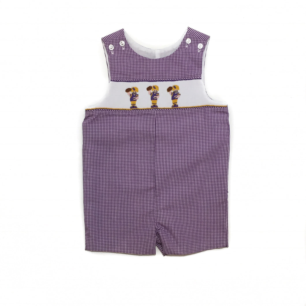 Banbury Purple Gingham Football Shortall