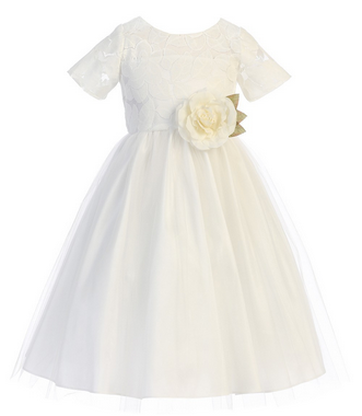 Sweet Kids Soft Spring Jasmine Lace Dress