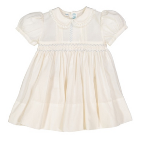 Feltman Brothers Ivory Vintage Smocked Dress