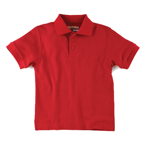 Universal Solid Polo Shirt Red