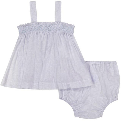 Pixie Lily Blue Mary Gray Bloomer Set