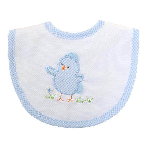 3Marthas Blue Chick Bib