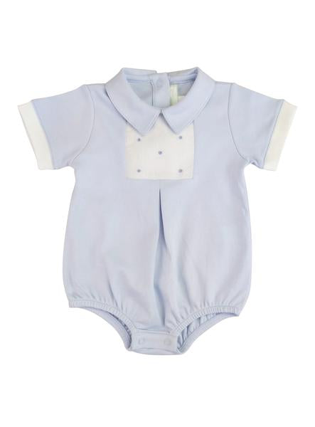 Baby Threads Blue Dots Baby Romper