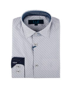 Leo & Zachary Midnight Check Dress Shirt