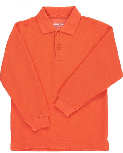 Universal Orange Long Sleeve Polo Shirt