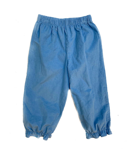 Banbury Party Blue Corduroy Girl Long Bloomer