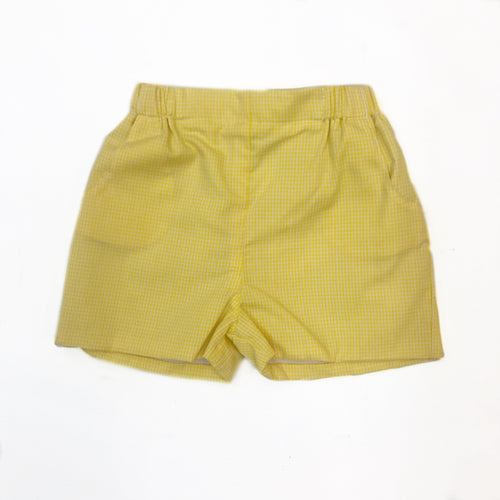 Yellow Gingham Short
