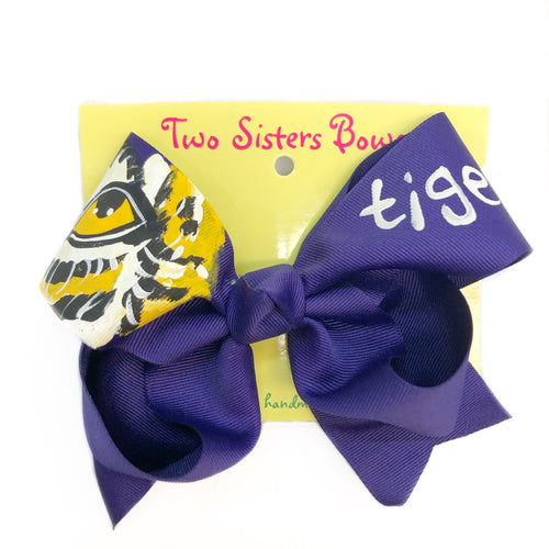 Two Sisters Bow Tiger Eye Bow