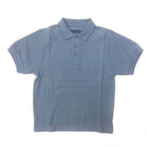Universal Solid Polo Shirt Light Blue