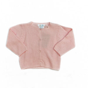 Cuclie Baby Contrast Knit Cardigan-Pink