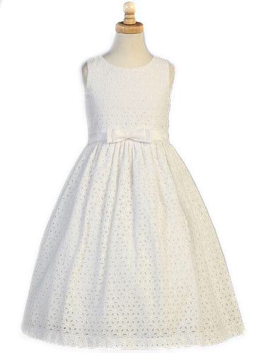 Swea Pea & Lilli Sleeveless Cotton Eyelet Dress
