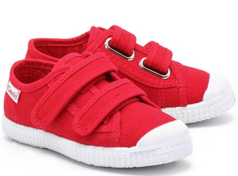 Cienta Velcro Red Canvas Unisex