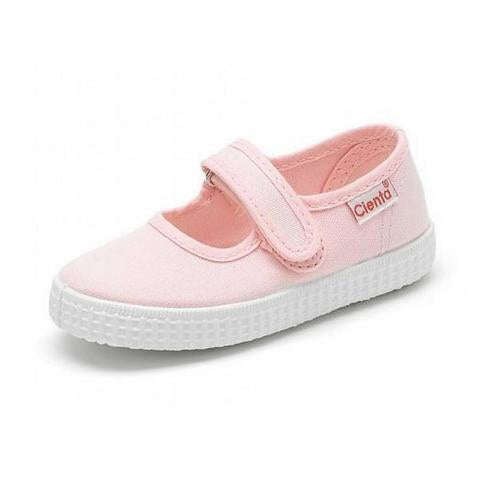 Cienta Girls Light Pink Canvas Shoe