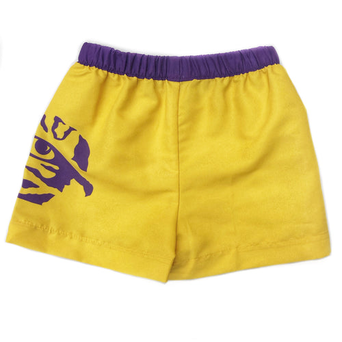 LSU Tigers Gold Elastic Waist Short