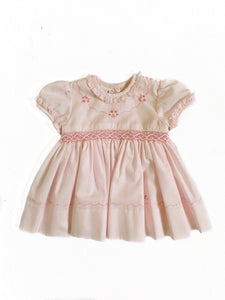Sarah Louise Embroidered Yoke Smocked Dress