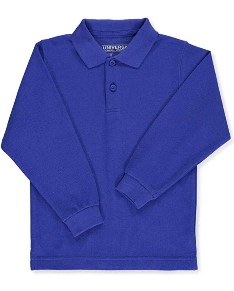 Universal Royal Long Sleeve Polo Shirt