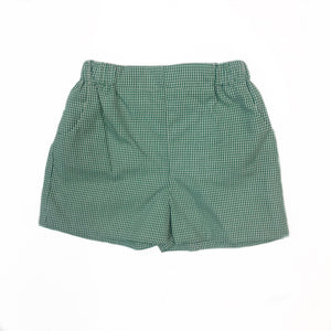 Christmas Green Gingham Short
