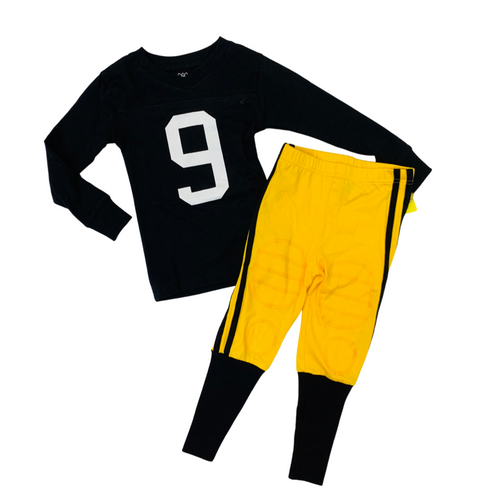 Black & Gold Football Player Pajama