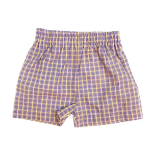Funtasia Too Purple/Gold Plaid Shorts